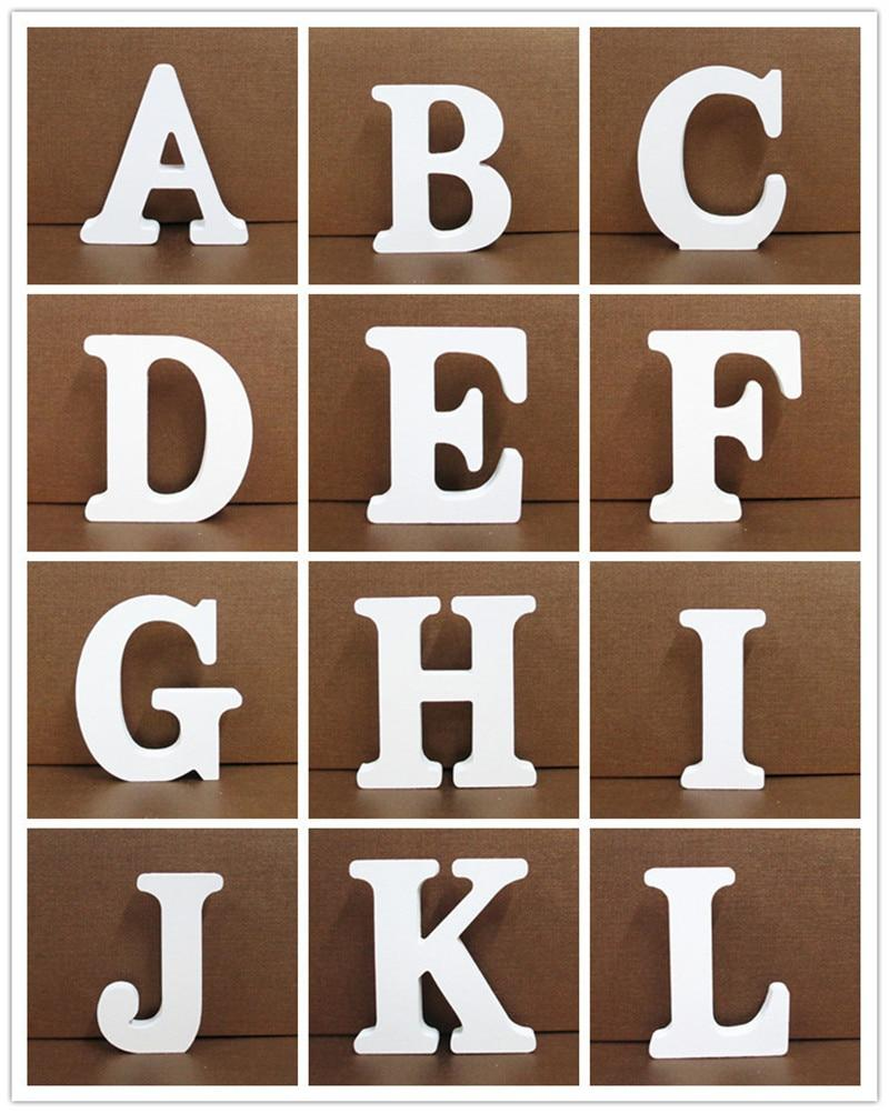 White Wooden Letter English Alphabet | Home Decor Hopikas