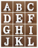 Load image into Gallery viewer, White Wooden Letter English Alphabet | Home Decor Hopikas