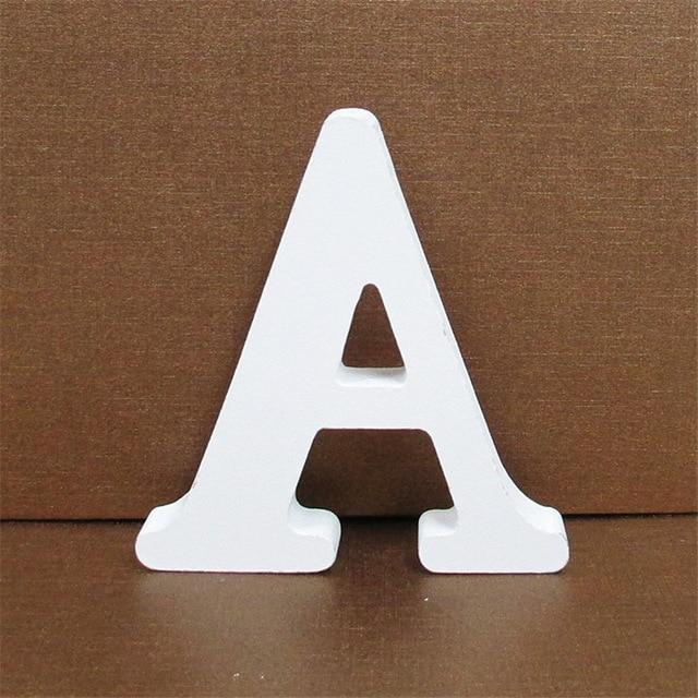 White Wooden Letter English Alphabet | Home Decor Hopikas A 10CMX10CM