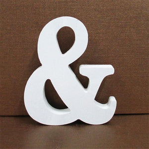 White Wooden Letter English Alphabet | Home Decor Hopikas And 10CMX10CM