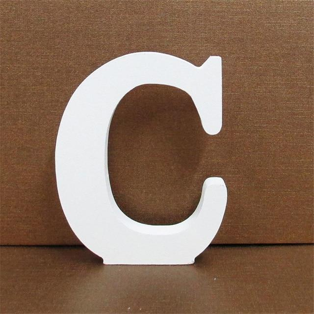 White Wooden Letter English Alphabet | Home Decor Hopikas C 10CMX10CM