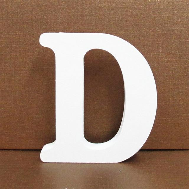 White Wooden Letter English Alphabet | Home Decor Hopikas D 10CMX10CM