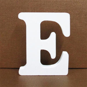White Wooden Letter English Alphabet | Home Decor Hopikas E 10CMX10CM