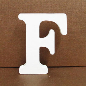 White Wooden Letter English Alphabet | Home Decor Hopikas F 10CMX10CM