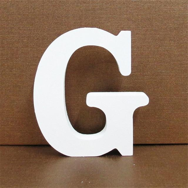 White Wooden Letter English Alphabet | Home Decor Hopikas G 10CMX10CM