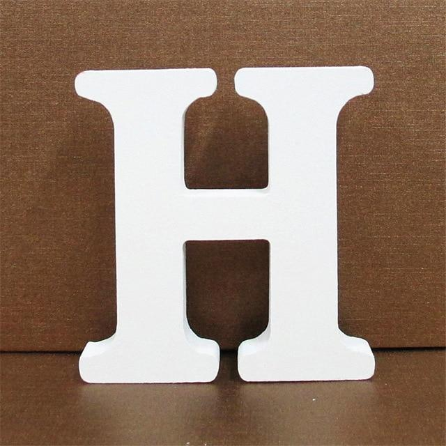 White Wooden Letter English Alphabet | Home Decor Hopikas H 10CMX10CM