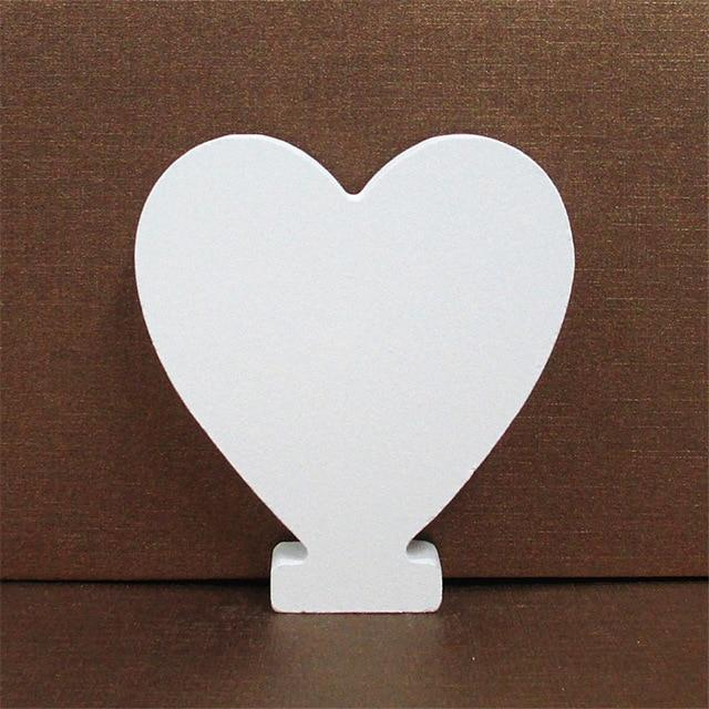 White Wooden Letter English Alphabet | Home Decor Hopikas Heart 10CMX10CM