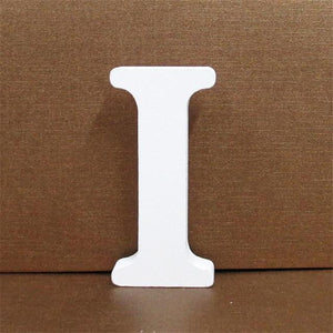 White Wooden Letter English Alphabet | Home Decor Hopikas I 10CMX10CM