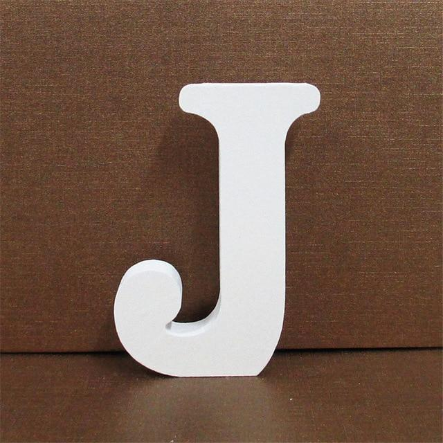White Wooden Letter English Alphabet | Home Decor Hopikas J 10CMX10CM