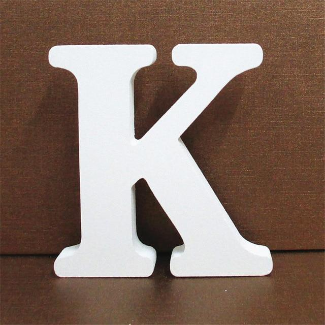 White Wooden Letter English Alphabet | Home Decor Hopikas K 10CMX10CM