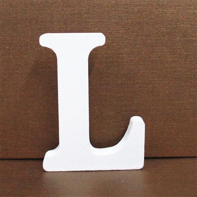 White Wooden Letter English Alphabet | Home Decor Hopikas L 10CMX10CM