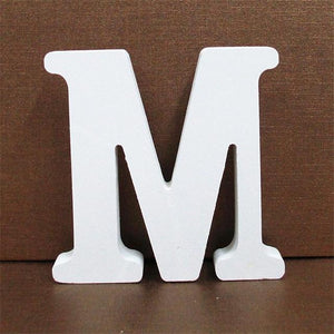 White Wooden Letter English Alphabet | Home Decor Hopikas M 10CMX10CM