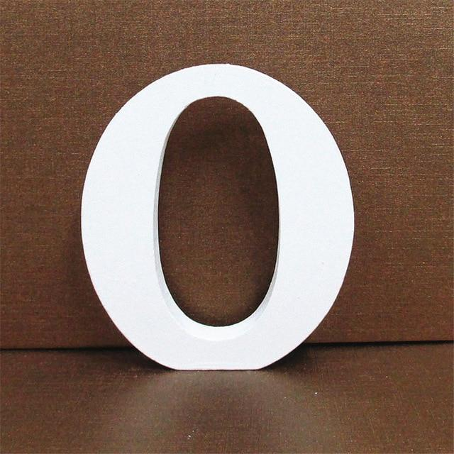 White Wooden Letter English Alphabet | Home Decor Hopikas O 10CMX10CM