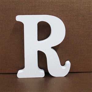 White Wooden Letter English Alphabet | Home Decor Hopikas R 10CMX10CM