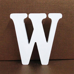 White Wooden Letter English Alphabet | Home Decor Hopikas W 10CMX10CM