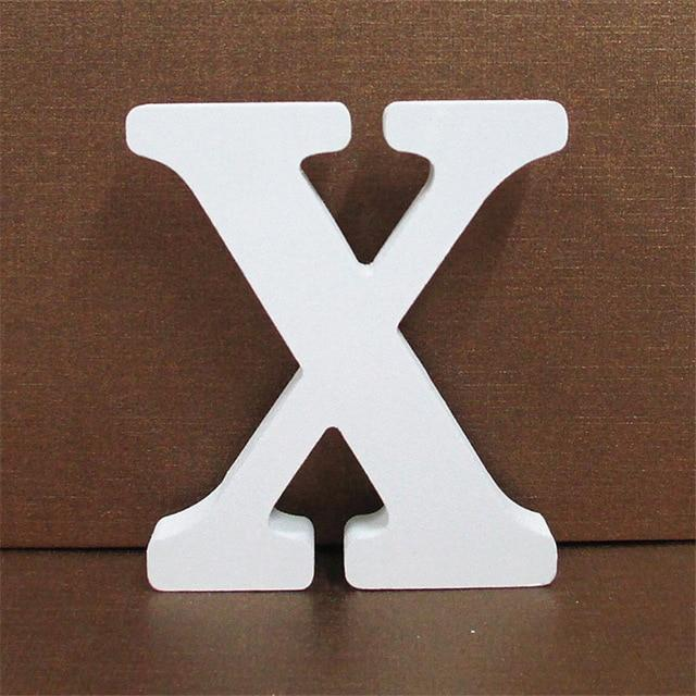 White Wooden Letter English Alphabet | Home Decor Hopikas X 10CMX10CM