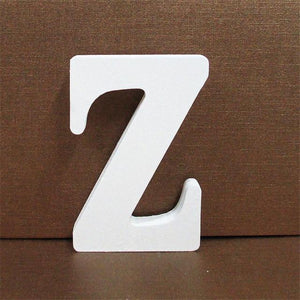 White Wooden Letter English Alphabet | Home Decor Hopikas Z 10CMX10CM