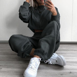 Wide Leg Sweatpants Hopikas Dark Grey S