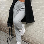 Load image into Gallery viewer, Wide Leg Sweatpants Hopikas Gray S