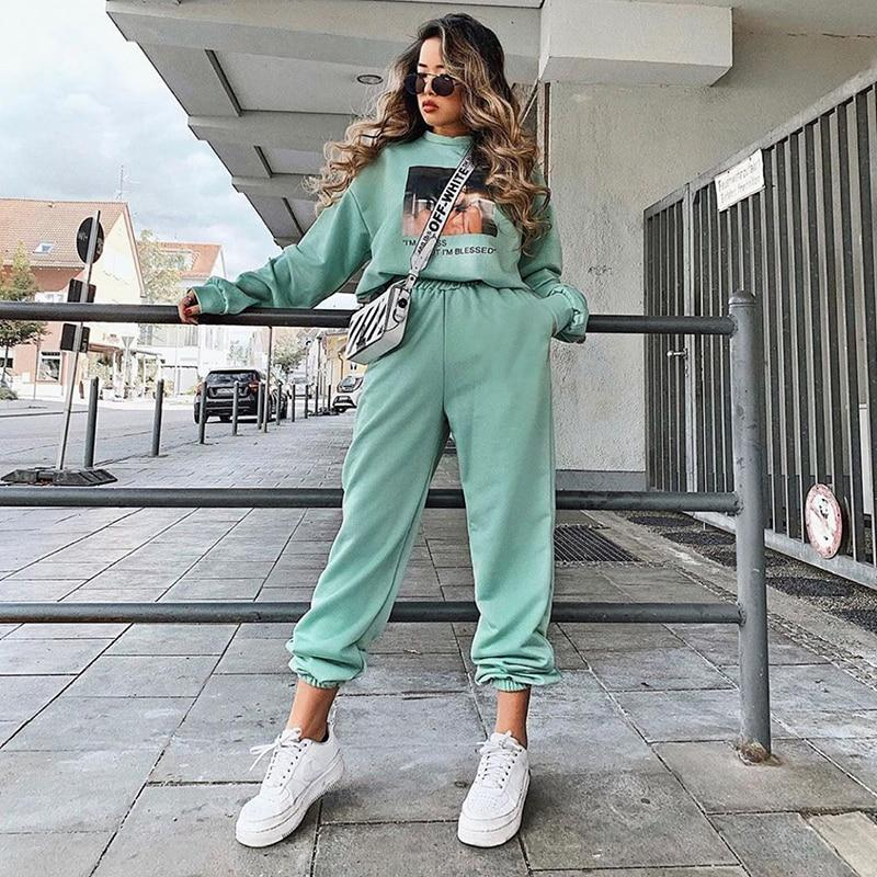Wide Leg Sweatpants Hopikas Green S