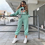 Load image into Gallery viewer, Wide Leg Sweatpants Hopikas Green S