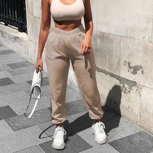 Wide Leg Sweatpants Hopikas Khaki L