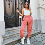 Load image into Gallery viewer, Wide Leg Sweatpants Hopikas Pink S
