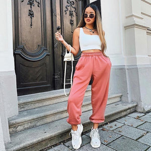 Wide Leg Sweatpants Hopikas Pink S