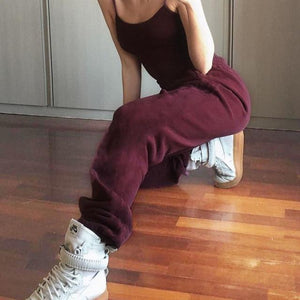 Wide Leg Sweatpants Hopikas Red S