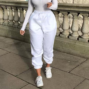 Wide Leg Sweatpants Hopikas White L