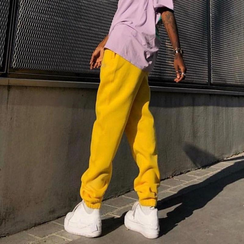 Wide Leg Sweatpants Hopikas Yellow S