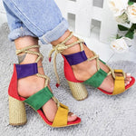 Load image into Gallery viewer, Women Heels Sandals Hopikas