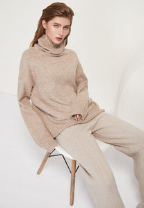 Women Knitted Turtleneck Cashmere Sweater Hopikas