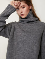 Load image into Gallery viewer, Women Knitted Turtleneck Cashmere Sweater Hopikas