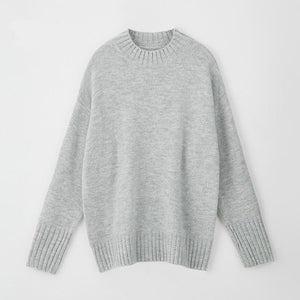 Women Knitted Turtleneck Cashmere Sweater Hopikas One Size 2-Light Gray