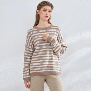 Women Knitted Turtleneck Cashmere Sweater Hopikas One Size 3-Camel