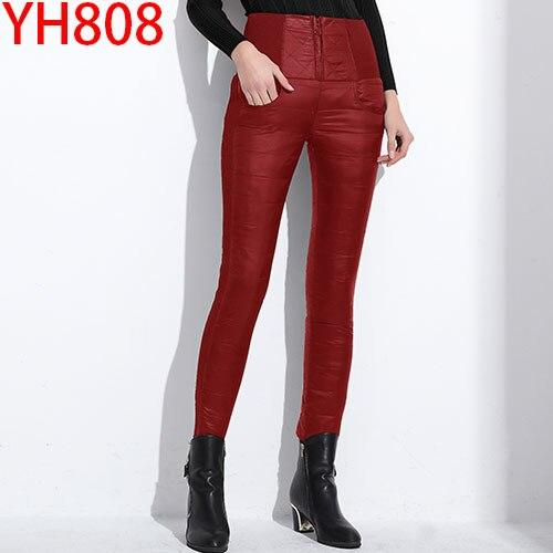 Women Winter Warm Thick Duck Down Pants Hopikas 808 red L