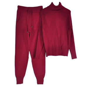 Women's Tracksuit (Sweater and Elastic Trousers) Hopikas Burgundy One Size