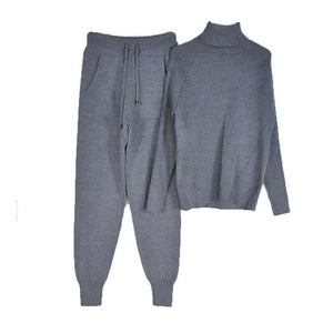 Women's Tracksuit (Sweater and Elastic Trousers) Hopikas Gray One Size