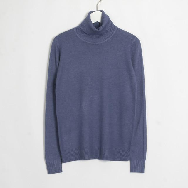 Womens Turtleneck Hopikas Dark Blue