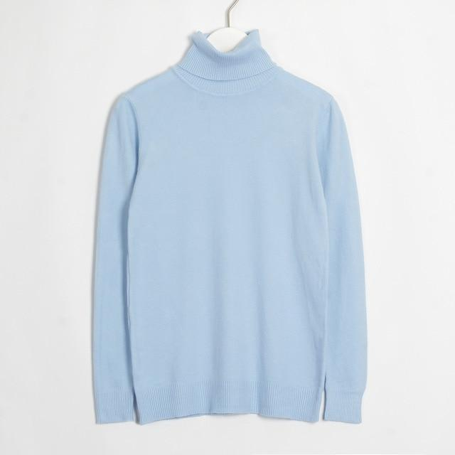 Womens Turtleneck Hopikas Light Blue