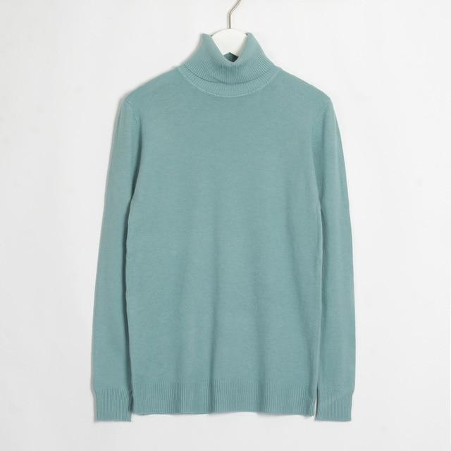 Womens Turtleneck Hopikas Pea Green