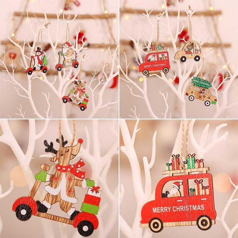 Wooden Christmas Pendant Merry Christmas Decor for Home Hopikas