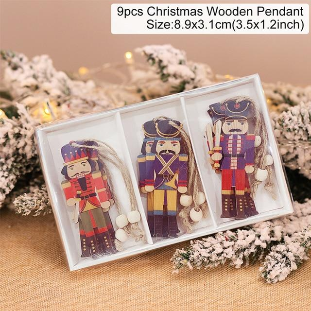 Wooden Christmas Pendant Merry Christmas Decor for Home Hopikas Christmas Pendant 1