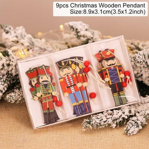 Wooden Christmas Pendant Merry Christmas Decor for Home Hopikas Christmas Pendant 2