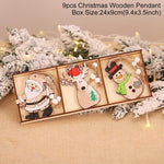 Wooden Christmas Pendant Merry Christmas Decor for Home Hopikas Christmas Pendant 3