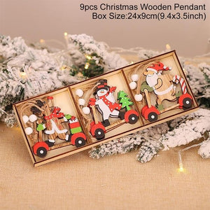 Wooden Christmas Pendant Merry Christmas Decor for Home Hopikas Christmas Pendant 4