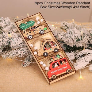 Wooden Christmas Pendant Merry Christmas Decor for Home Hopikas Christmas Pendant 5