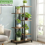 Load image into Gallery viewer, Wooden shelf for flowers Hopikas 5 Tier 60x23x125cm Ancient Oak United States