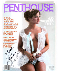 Autographed Penthouse Magazine October 1981, Signed by Sheila Kennedy